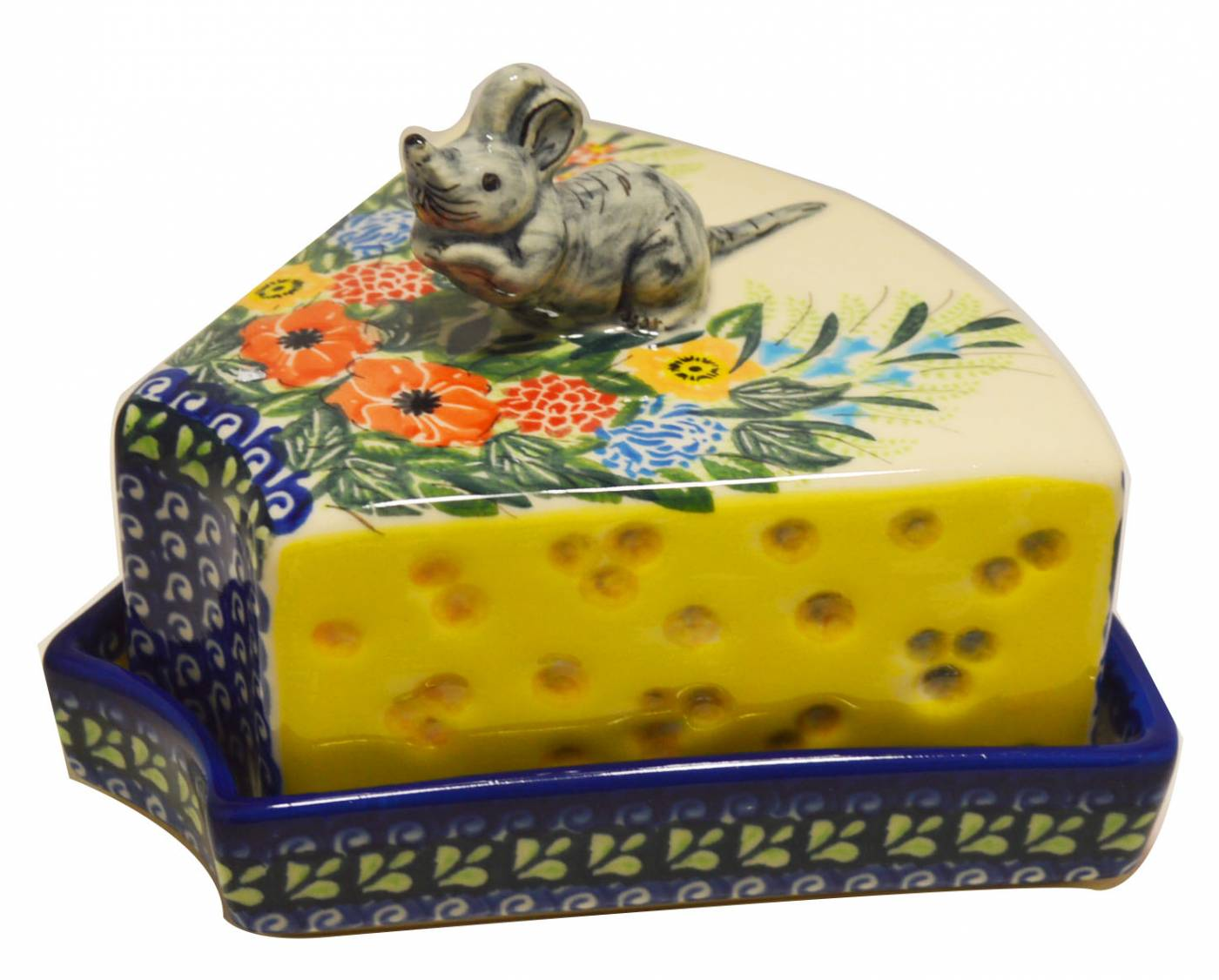 Mouse Cheese Dish Old World Polish Pottery