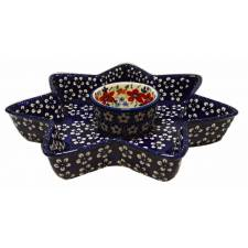 Star-Shaped Dish with Ramekin