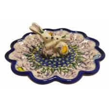 Egg Plate with Bunnies