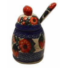 Strawberry Jam Jar with Spoon