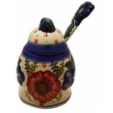 Blueberry Jam Jar with Spoon