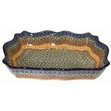 Scalloped Rectangular Baker