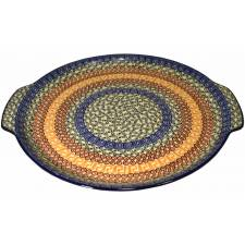 Round Platter with Handles