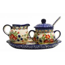 Sugar and Creamer Set with Spoon