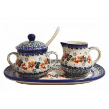 Sugar and Cream Set with Spoon
