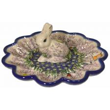 Egg Plate with Bunny