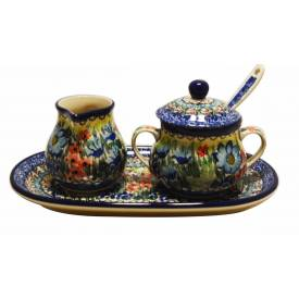 Creamer and Sugar Set with Spoon